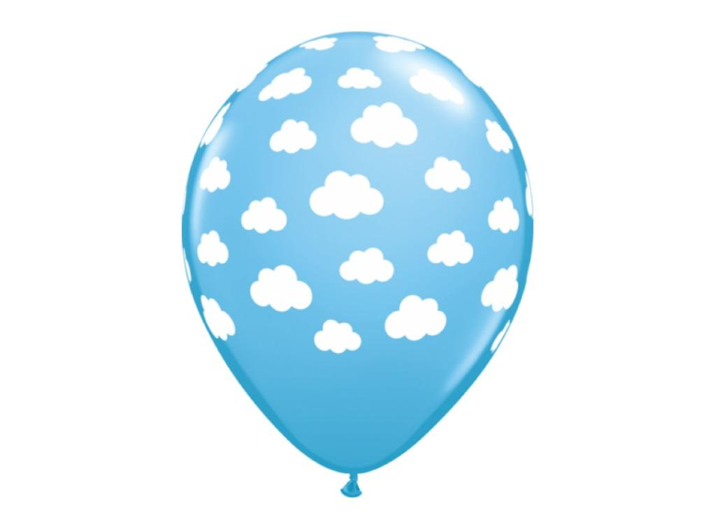 Pale Blue Clouds Balloon