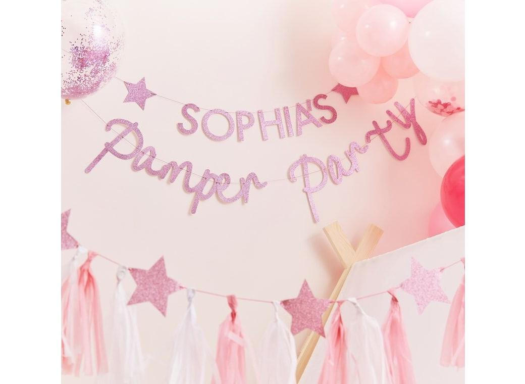 Pamper Party Customisable Banner