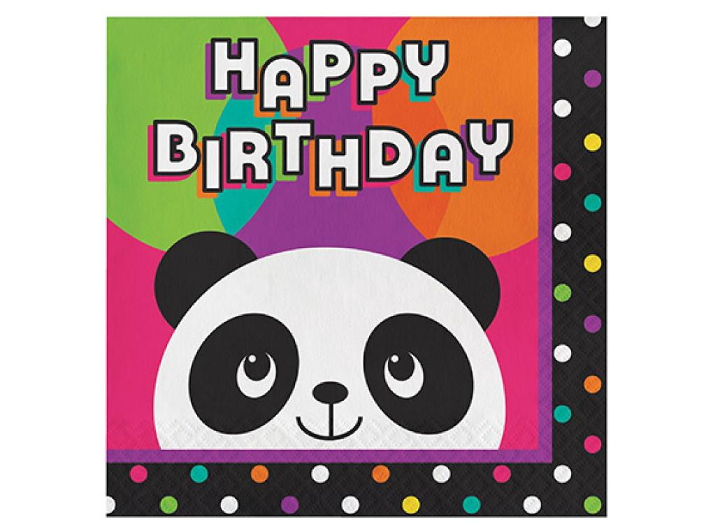 Panda-Monium Birthday Lunch Napkins 16pk