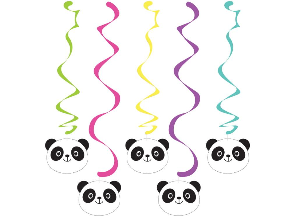 Panda-Monium Hanging Swirl Decorations