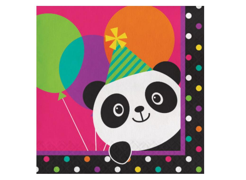 Panda-Monium Lunch Napkins 16pk