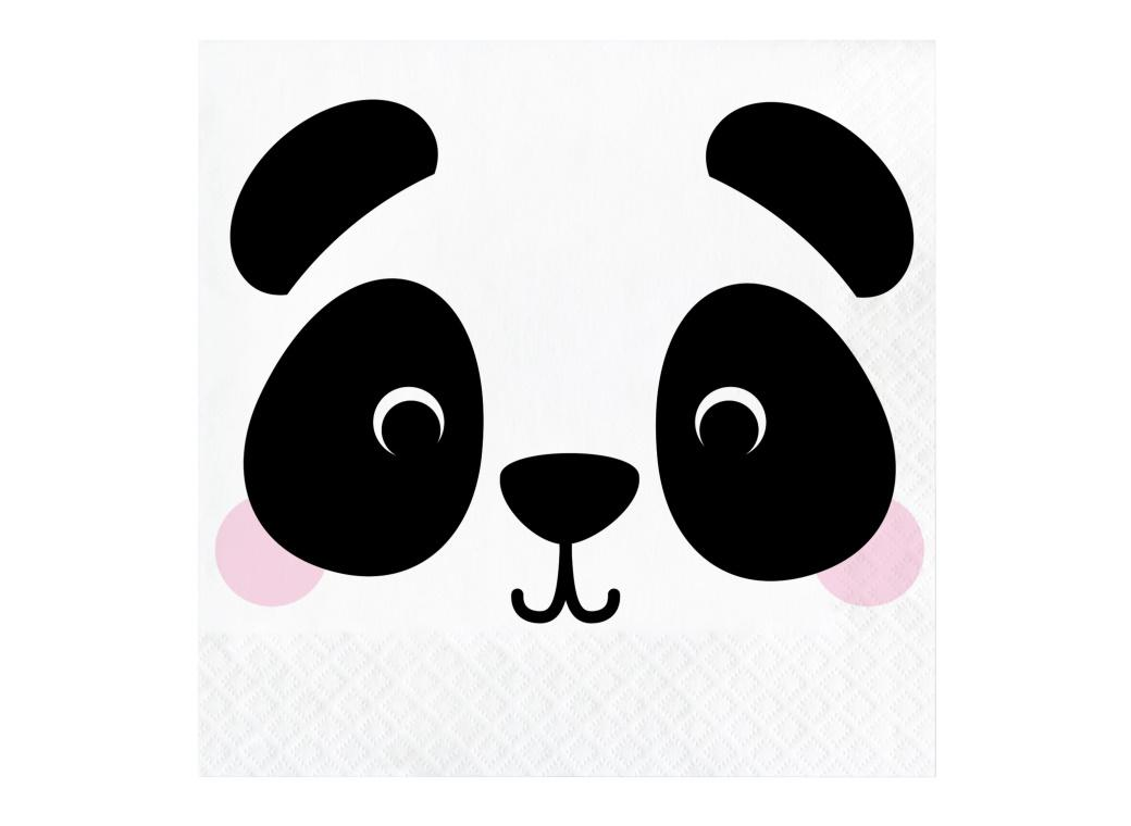 Animal Faces Panda Lunch Napkins 16pk