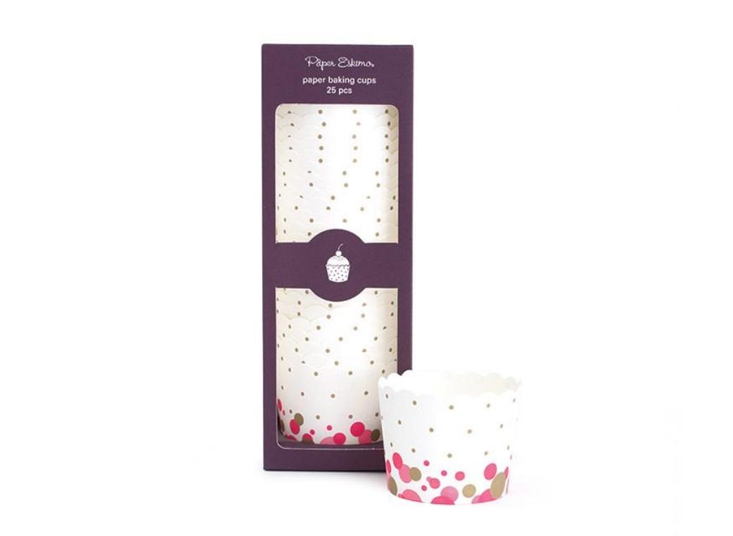 Paper Eskimo Baking Cups - Pop Pink