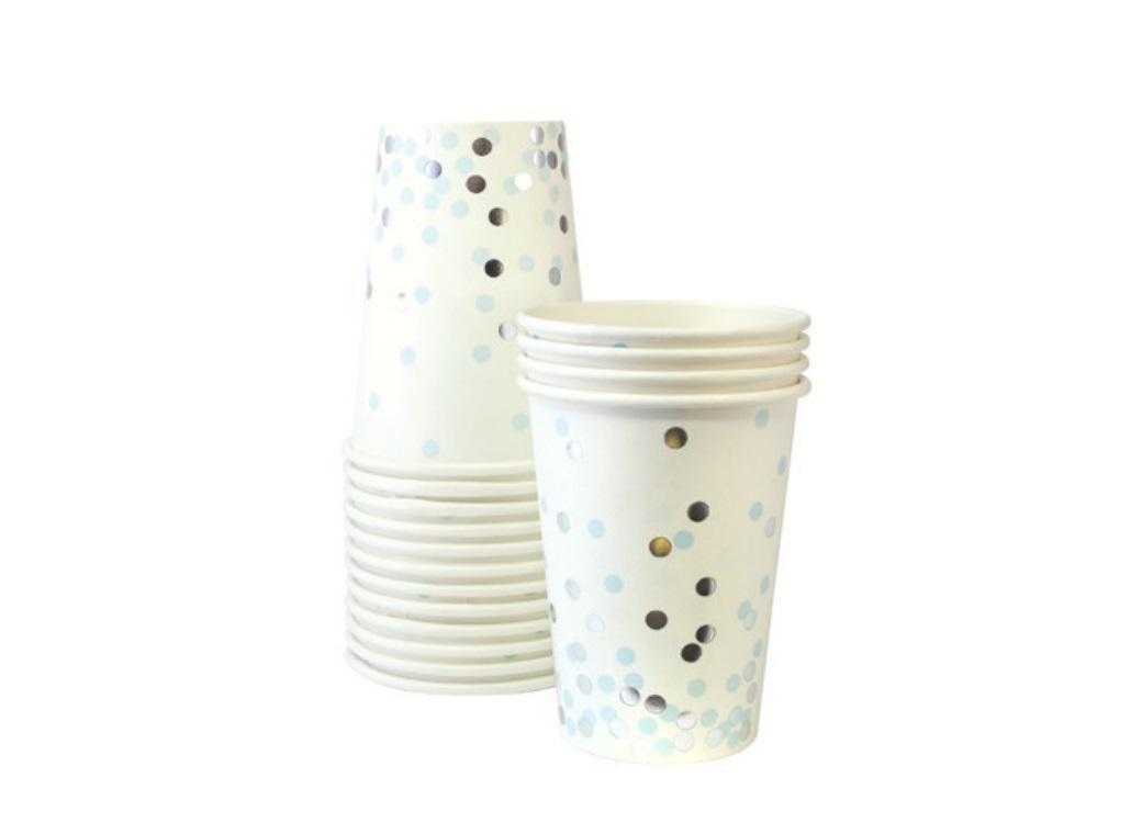 Paper Eskimo Paper Cups - Blue Confetti