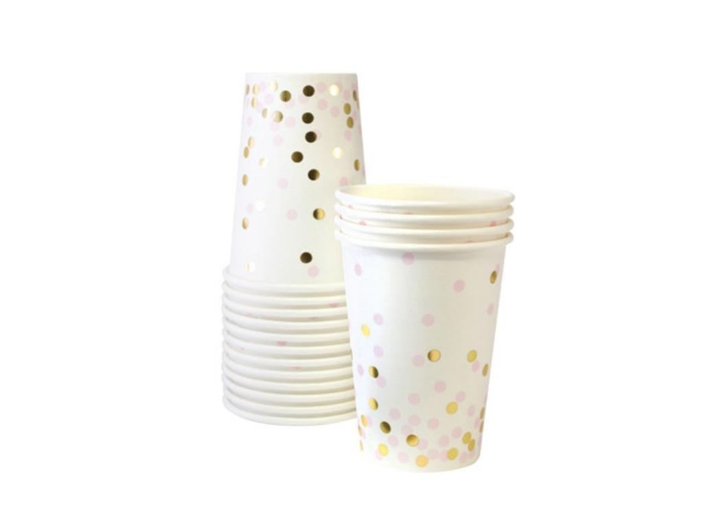 Paper Eskimo Paper Cups - Pink Confetti