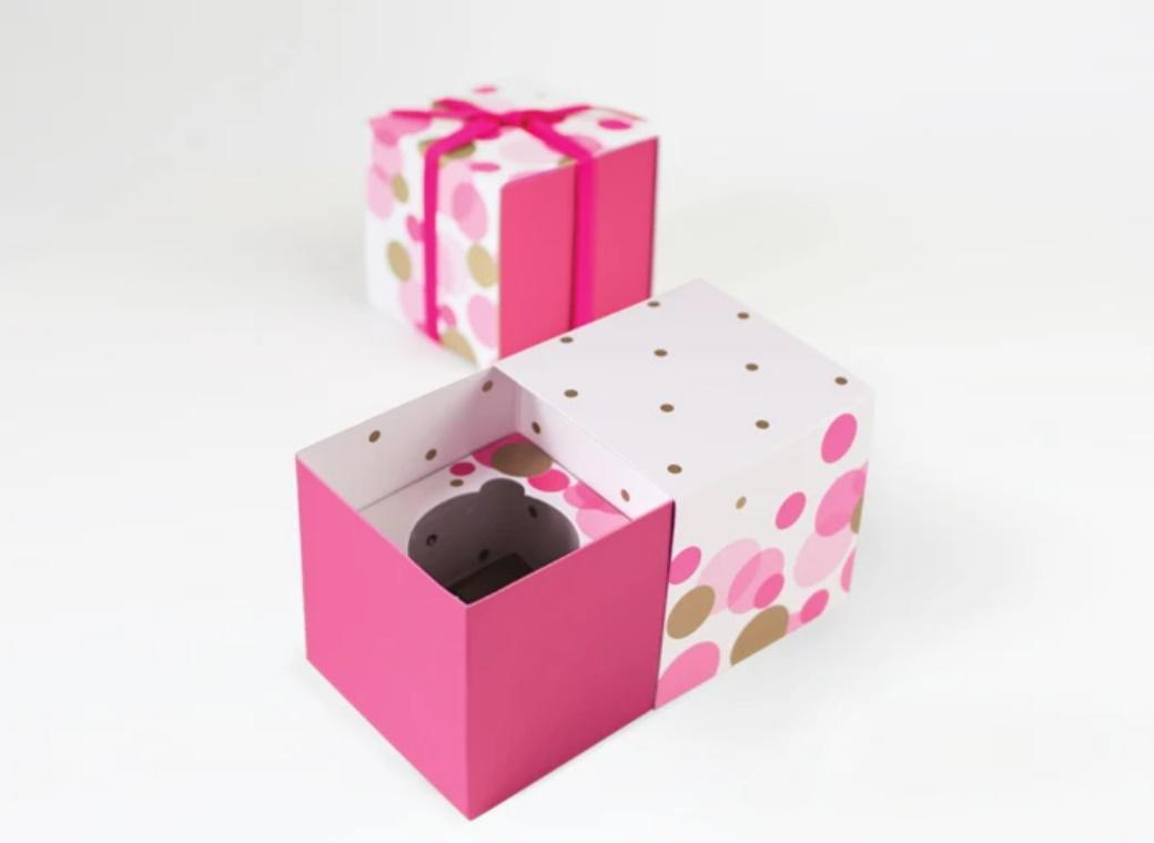 Paper Eskimo Gift Boxes 6pk - Pink So Hot