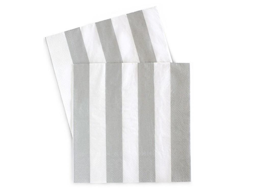 Paper Eskimo Napkins - Silver Sundae
