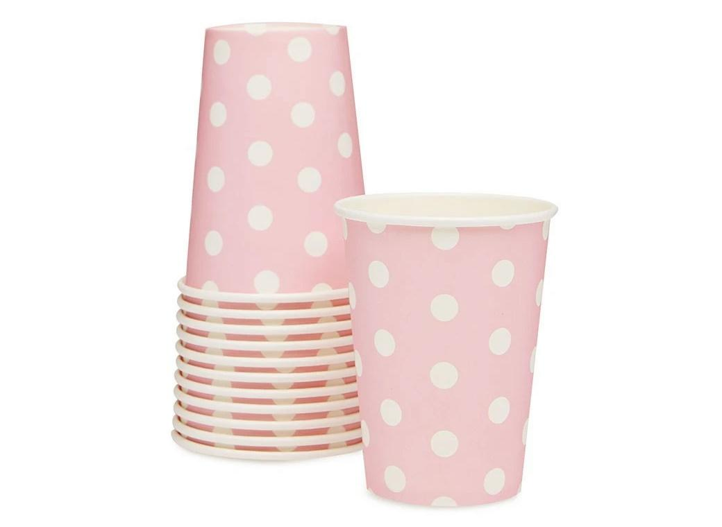 Paper Eskimo Paper Cups 12pk - Marshmallow Pink