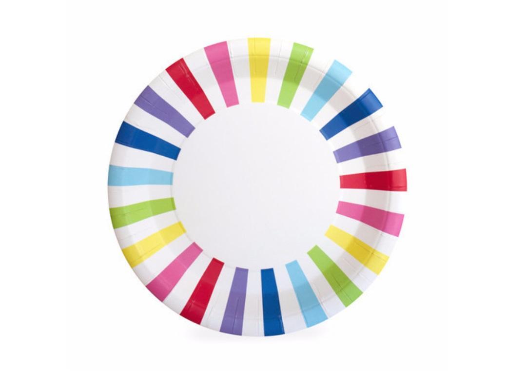 Paper Eskimo Paper Plates - Rainbow