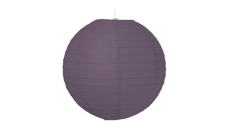 Paper Lantern Black - 24.5cm
