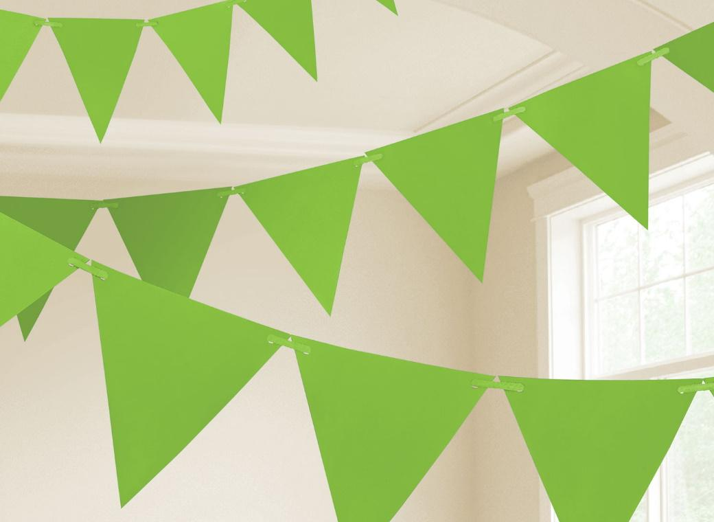 Paper Bunting Flags - Kiwi Green