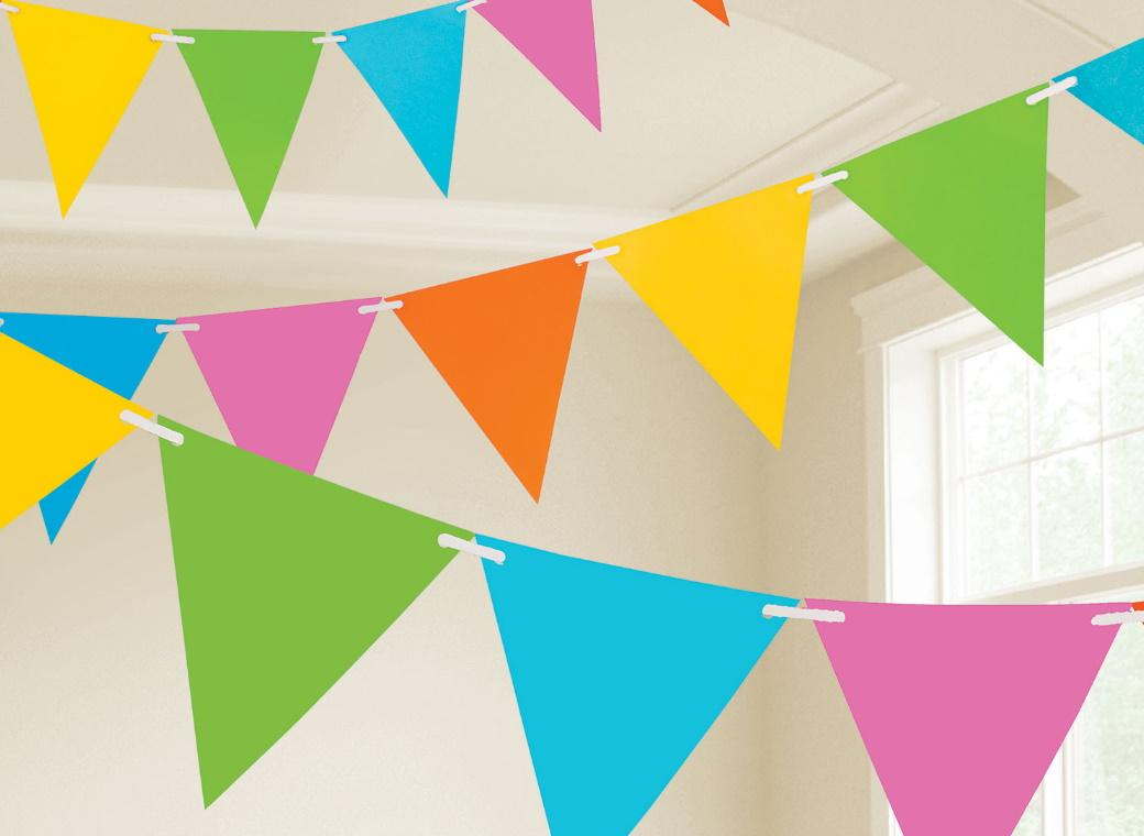 Paper Bunting Flags - Multicolour