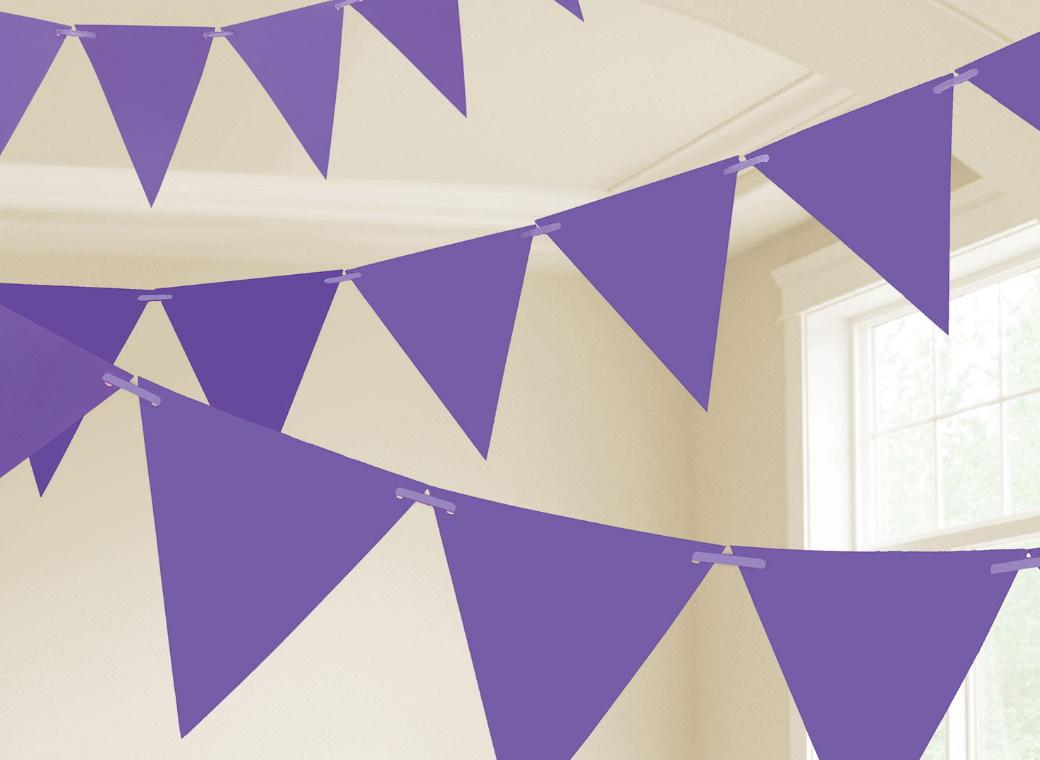 Paper Bunting Flags - Purple