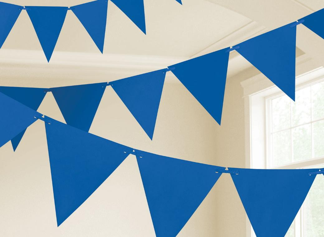 Paper Bunting Flags - Royal Blue
