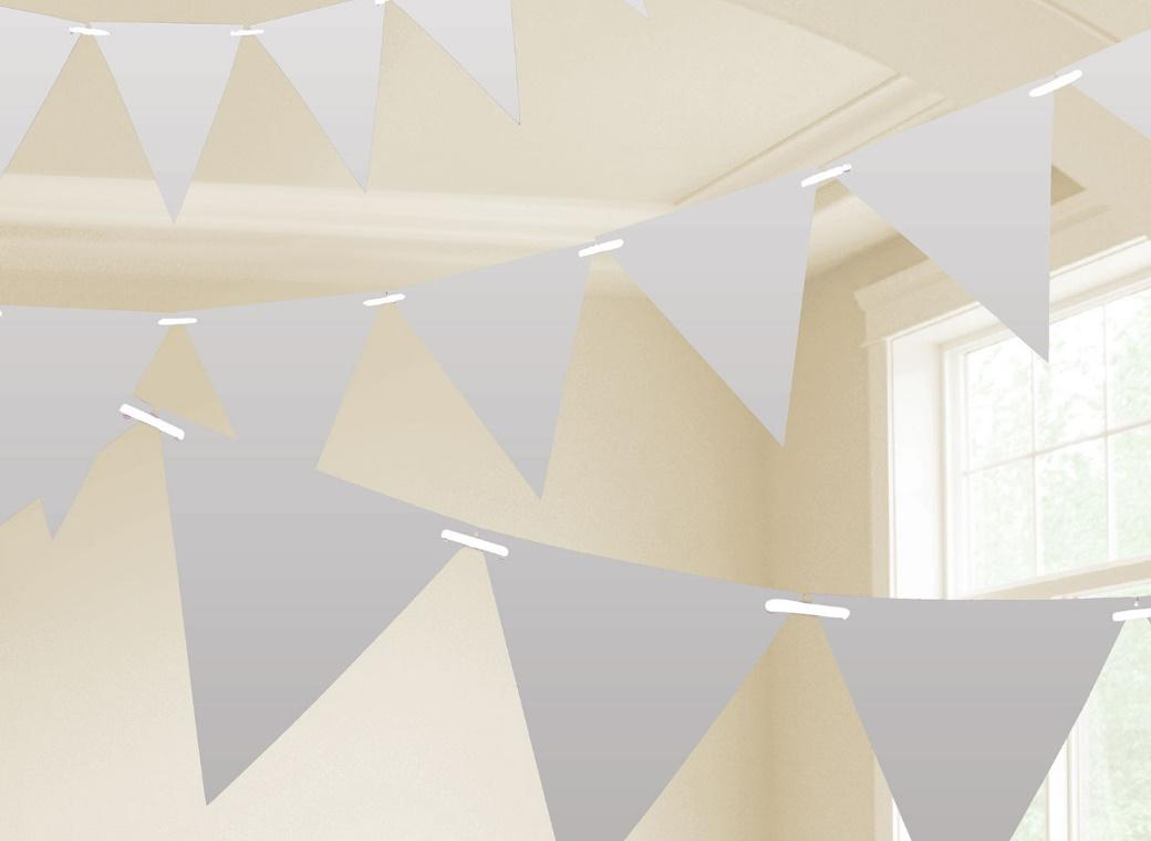 Paper Bunting Flags - Silver