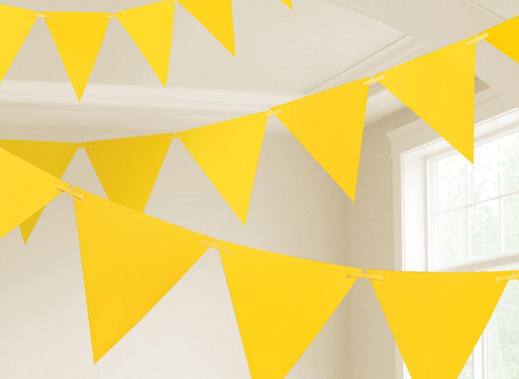 Paper Bunting Flags - Yellow