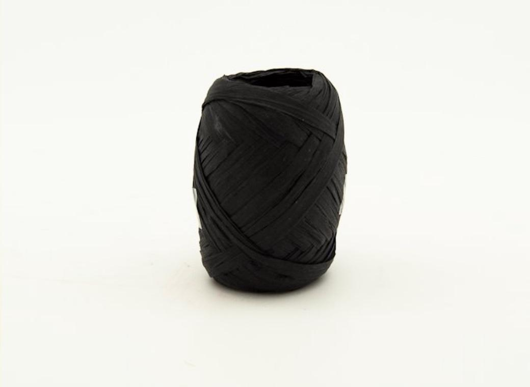 Paper Raffia Ribbon 10m - Black