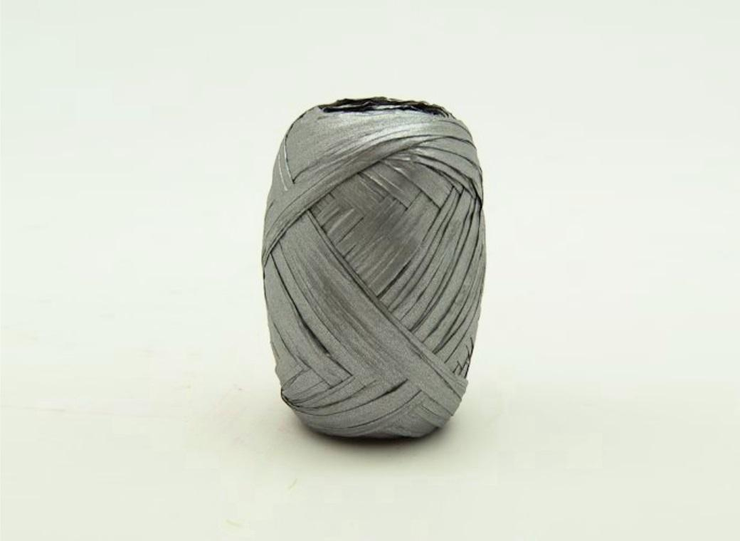 Paper Raffia Ribbon 10m - Silver