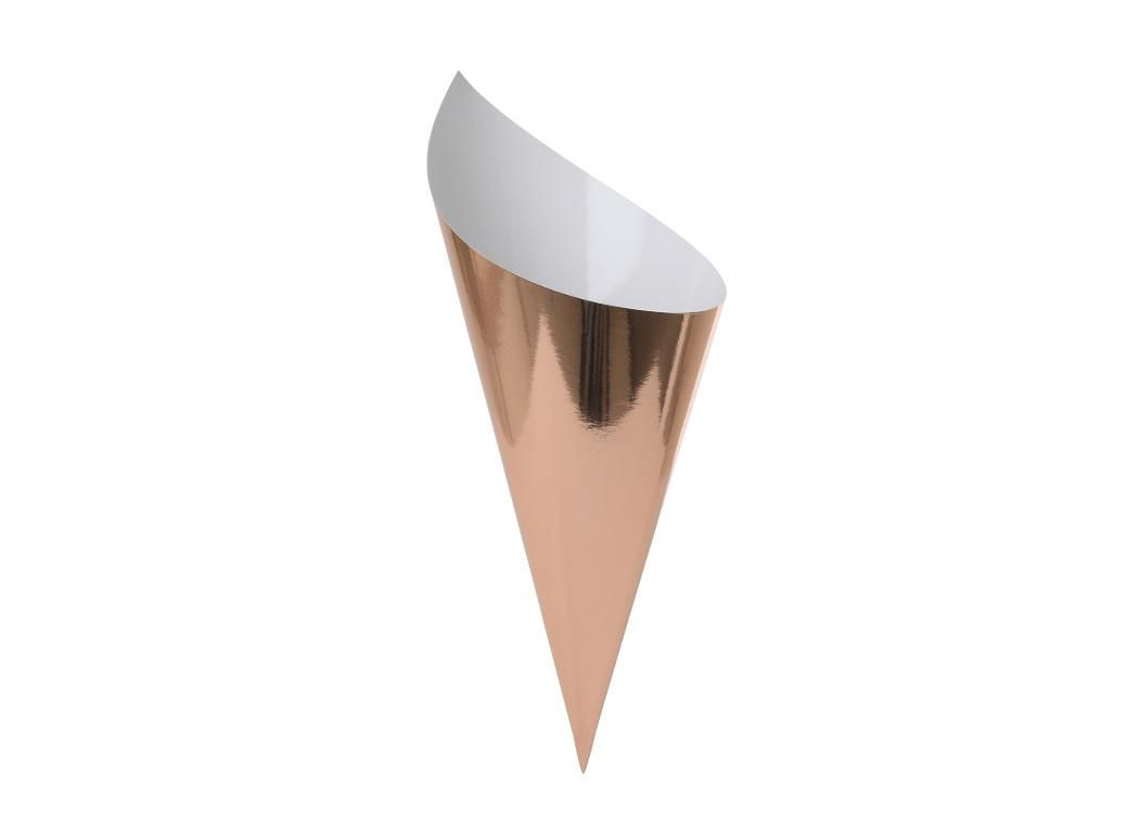 Paper Snack Cones 10pk Rose Gold