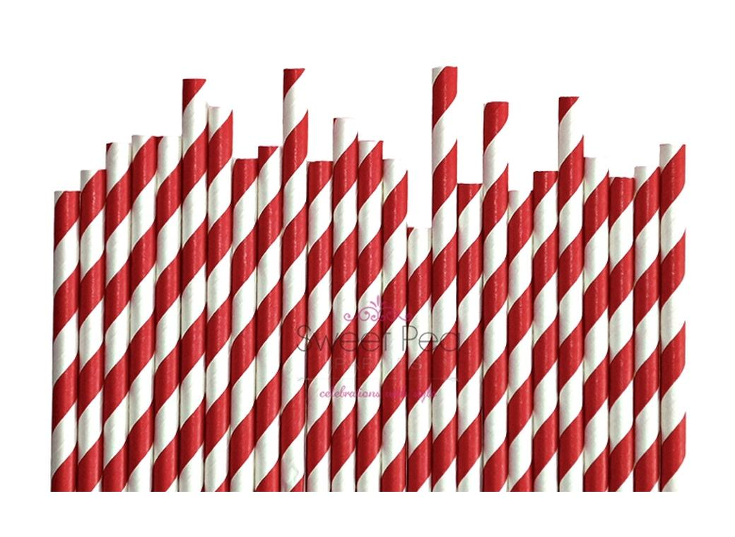 Paper Straws Red 24pk
