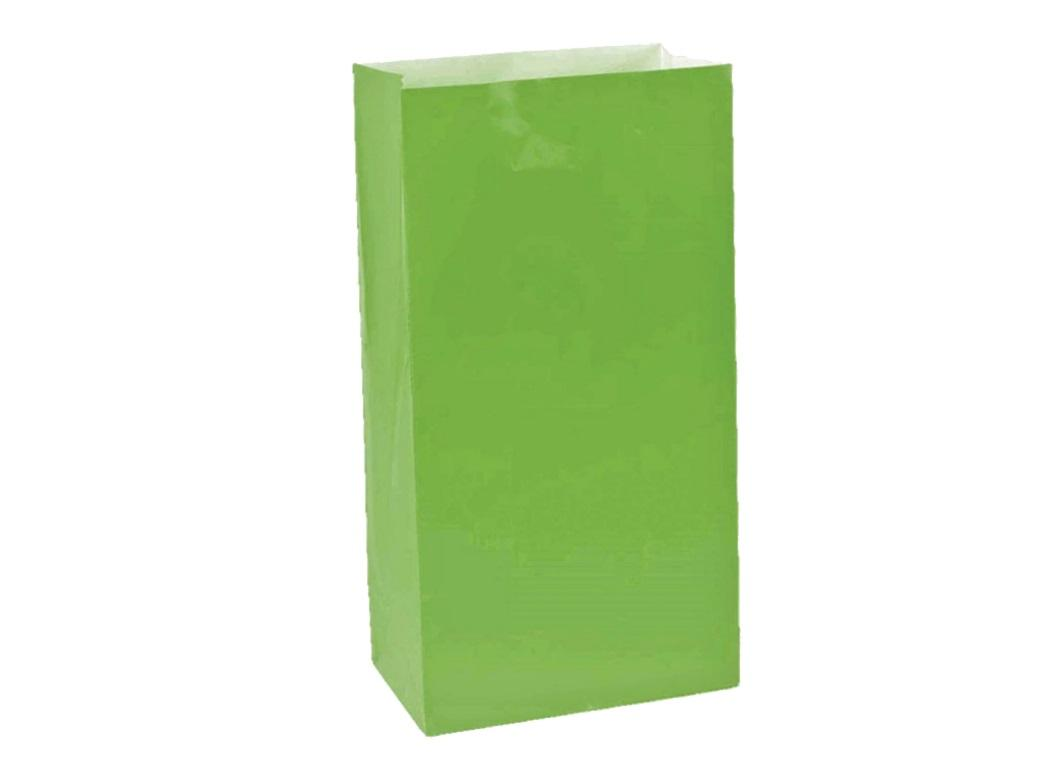 Paper Treat Bags 12pk Kiwi Green