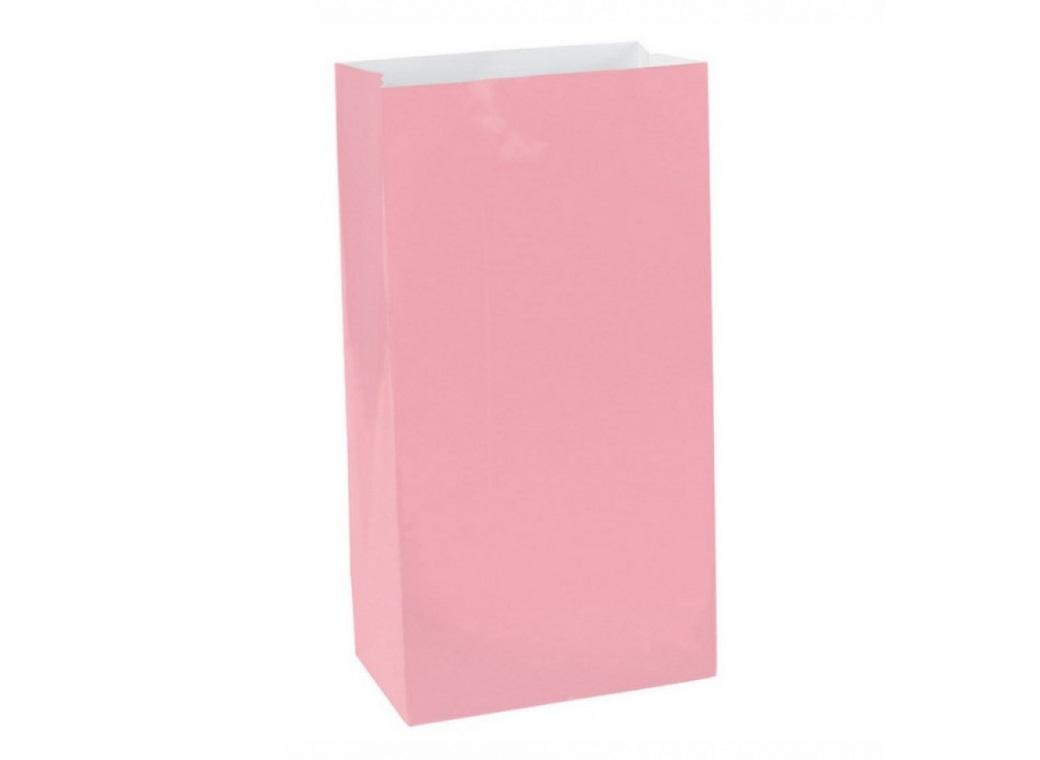 Paper Treat Bags 12pk New Pink