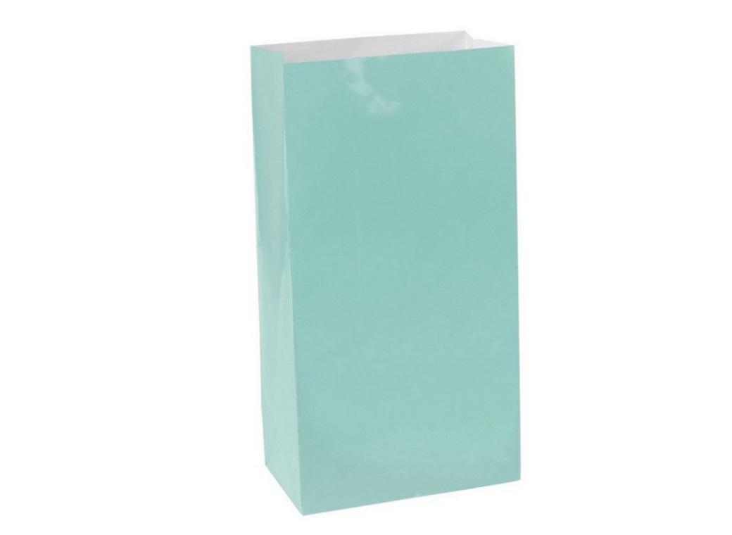 Paper Treat Bags 12pk Robins Egg Blue