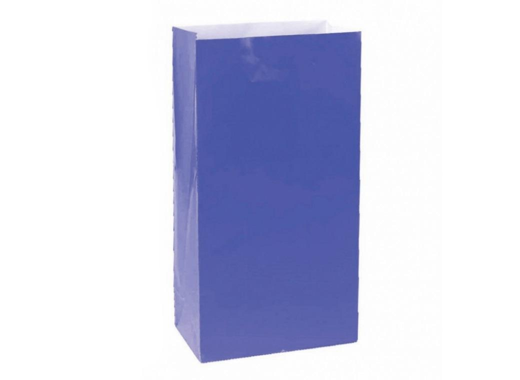 Paper Treat Bags 12pk Royal Blue