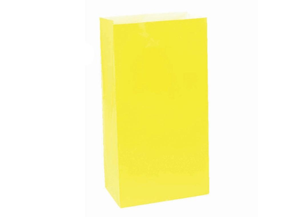Paper Treat Bags 12pk Yellow