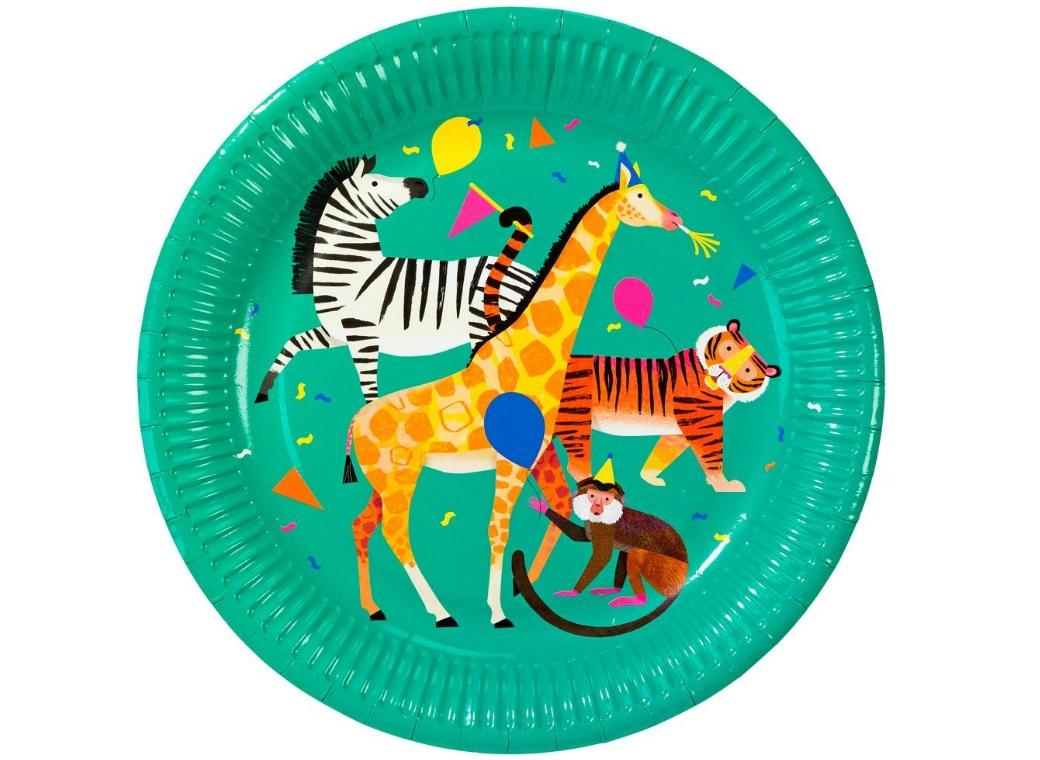 Party Animals Dinner Plates 8pk