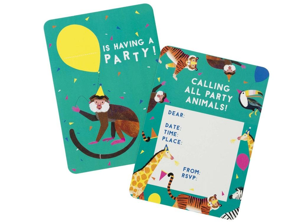 Party Animals Invitations 8pk
