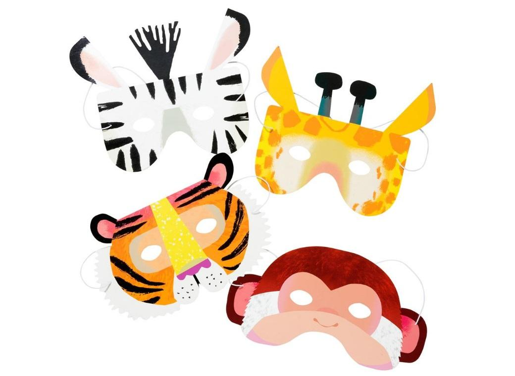 Party Animals Masks 8pk