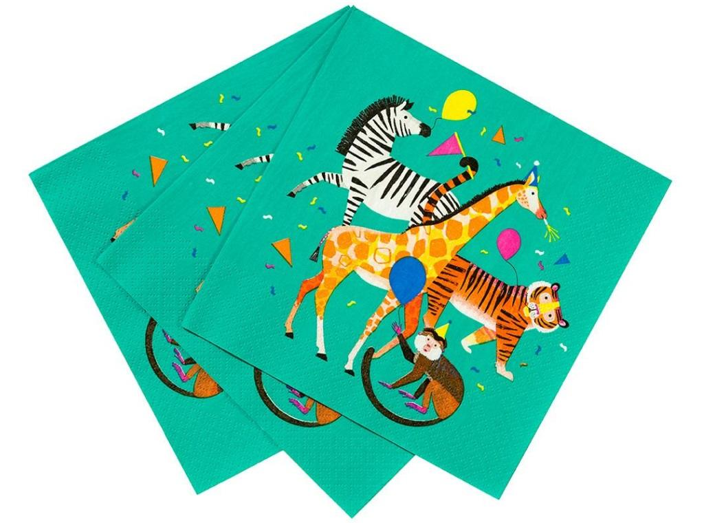 Party Animals Napkins 20pk