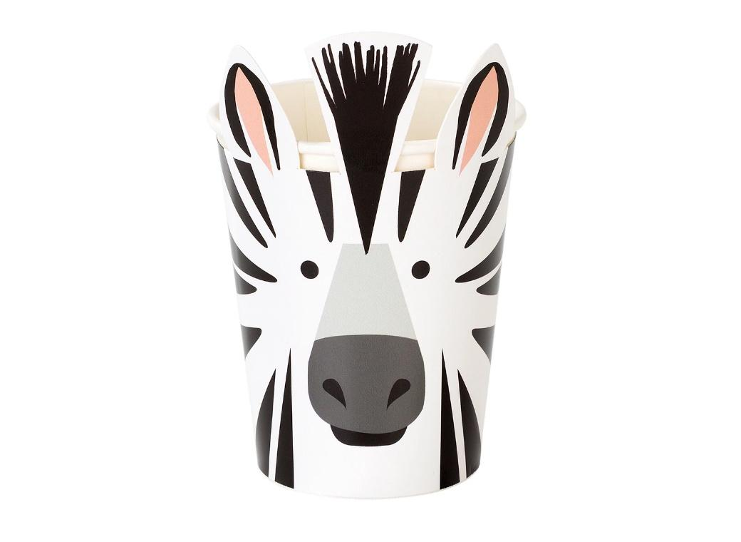 Party Animals Zebra Cups 8pk