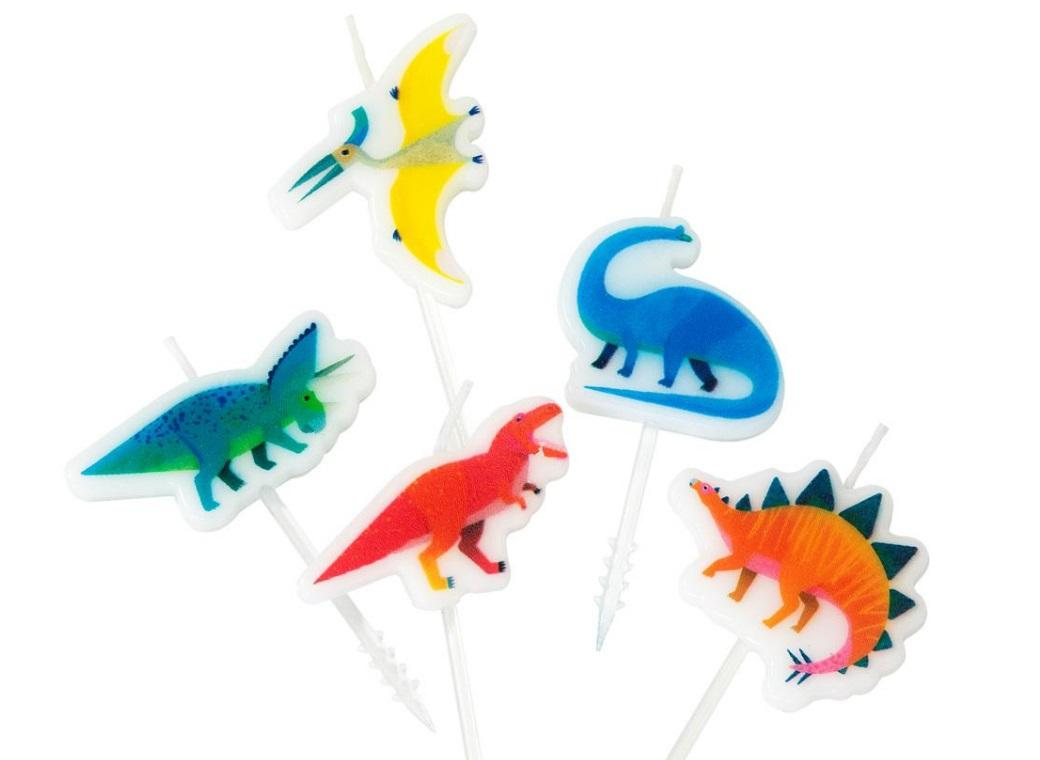 Party Dinosaurs Shaped Candles