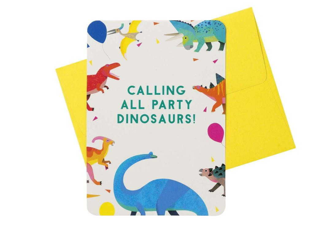 Party Dinosaurs Invitations 8pk