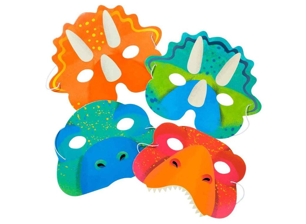 Party Dinosaurs Masks 8pk