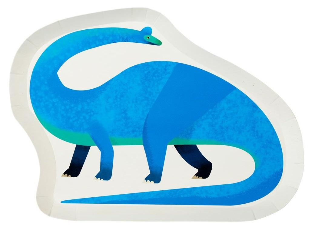 Party Dinosaurs Shaped Plates 12pk