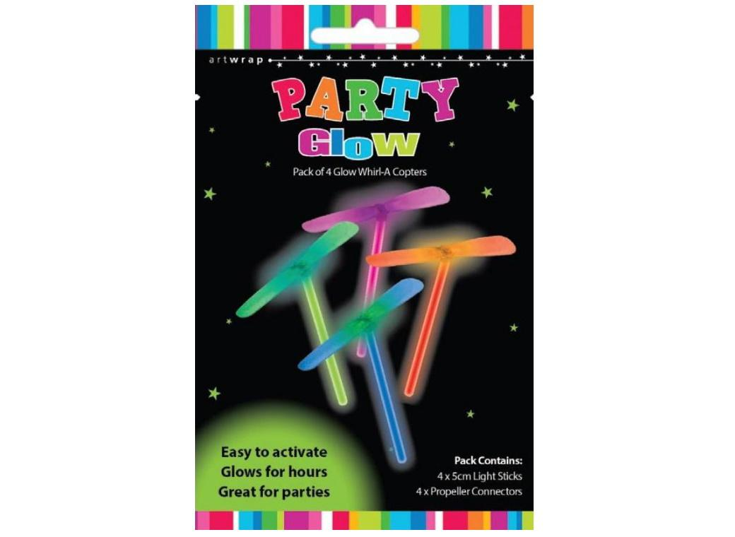 Party Glow Whirl-A-Copters 4pk