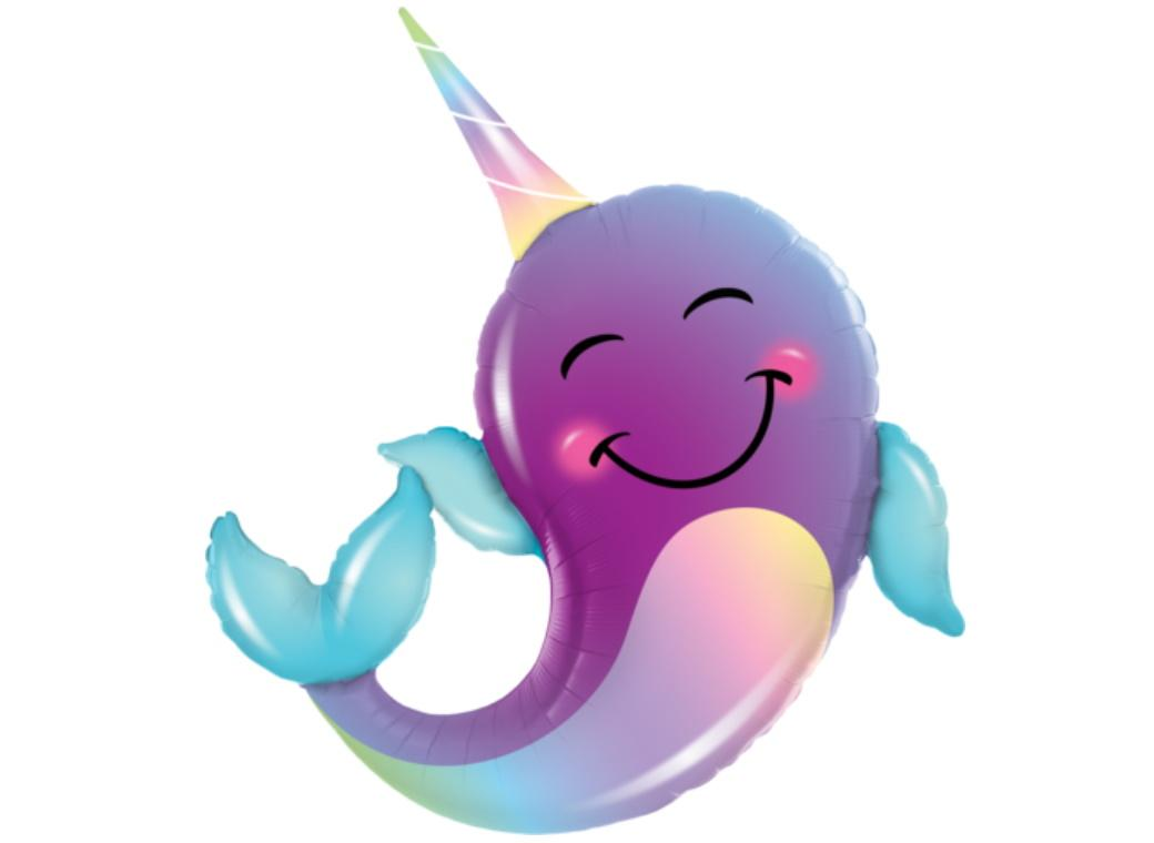Party Narwhal SuperShape Foil Balloon