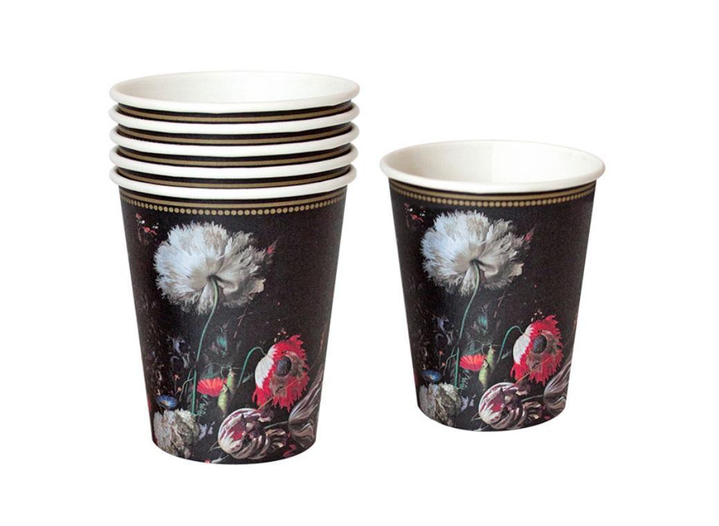 Party Porcelain Baroque Cup 12pk