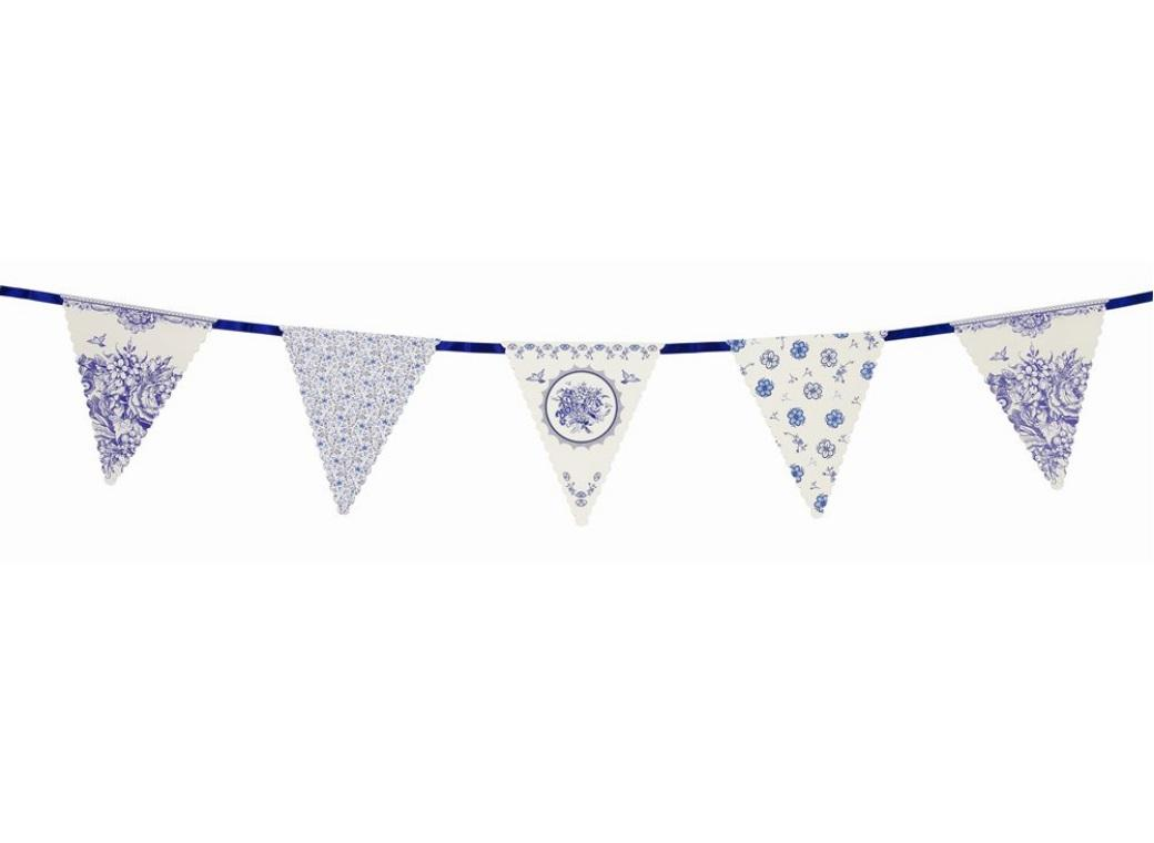 Party Porcelain Blue Bunting