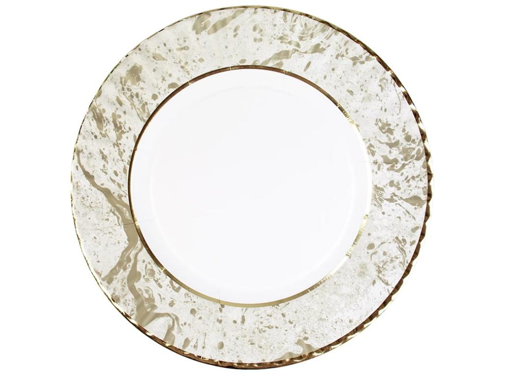 Party Porcelain Gold Large Plates 8pk