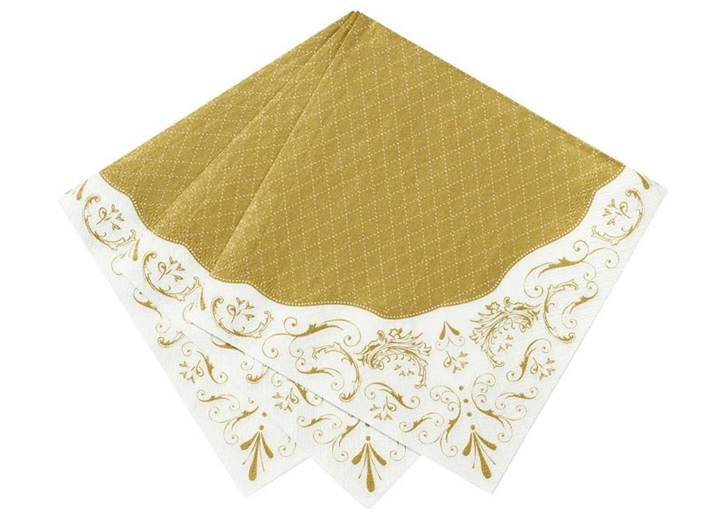 Party Porcelain Napkin - Gold