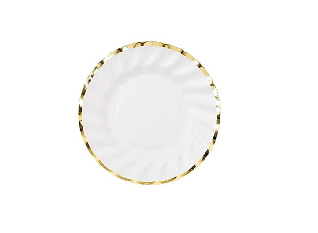 Party Porcelain Gold Small Plates 8pk
