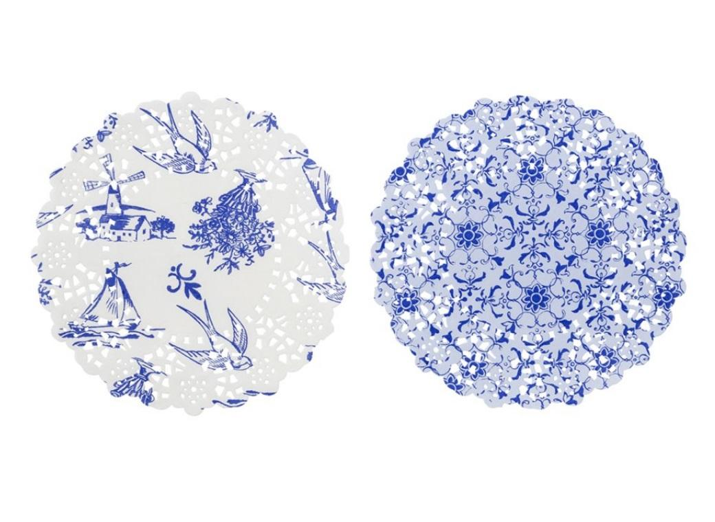Party Porcelain Blue Doilies