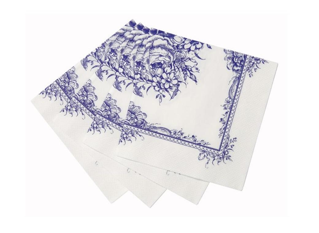 Party Porcelain Blue Napkins