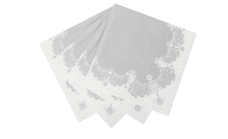 Party Porcelain Napkin - Silver