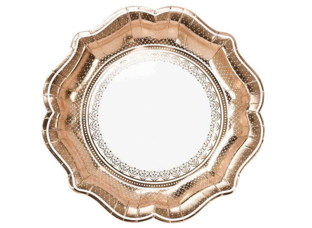Party Porcelain Rose Gold Plates 12pk