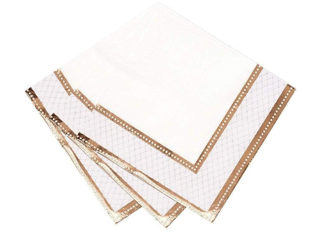 Party Porcelain Rose Gold Napkins 16pk